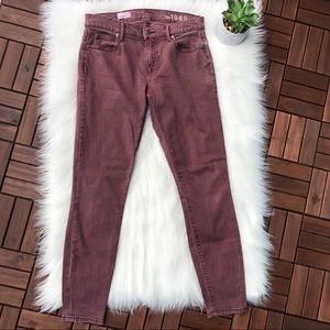 Gap Magenta Skinny Legging Jeans